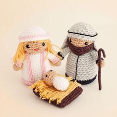 make these adorable Amigurumi Nativity Scene - FREE Crochet Pattern / Tutorial Cute Crochet, Crochet Crafts, Crochet Dolls, Yarn Crafts, Crochet Projects, Crochet Baby, Amigurumi Patterns, Amigurumi Doll, Crochet Patterns