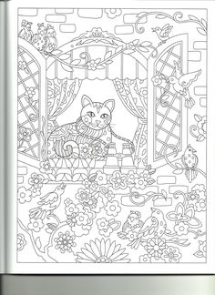Adult Coloring Pages Sheets Books Printable Cat Colors Creative Inspiration Papercraft Fiber Art