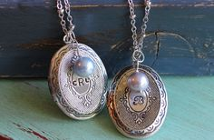 GroopDealz   Vintage Style Hand Stamped Lockets