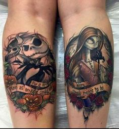 Sally and Jack couples tattoo | Tatt addiction | Pinterest | Pareja ...