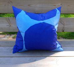 Pillow cover made from Marimekko fabric, pillow case, pillow sham, throw pillow cover, cushion cover, Scandinavian design, Kivet purple