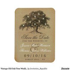 Vintage Old Oak Tree Wedding Save The Date