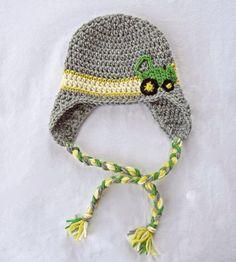 john deere baby, crochet tractor hat, baby boy hat, crochet hat on Etsy, $30.00