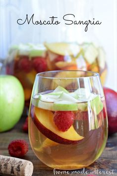 This light Moscato Sangria is at the top of my summer drinks list! Made with fresh summer fruit and lightly sweet moscato wine.#MiddleSister #DropsofWisdom #sponsored @middlesiswines