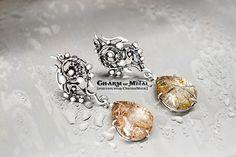 Phial of Galadriel - Sterling silver 925 golden light rutile quartz drops  earrings studs - wire wrap elf woman gift sharp jewelry pearl
