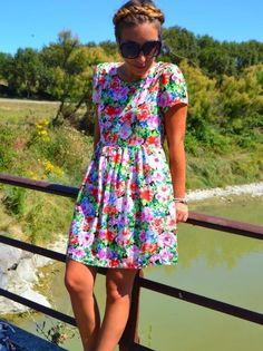 Floral dress Sheinside par @Knot_and_Tea