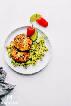 Spicy Shrimp Patties (Air Fryer Shrimp Recipe) Avocado Corn Salsa, Mexican Avocado, Ripe Avocado, Shrimp Patties Recipe, Spicy Shrimp, Salsa Recipe, Food Reviews, Shrimp Recipes, Quick Easy Meals