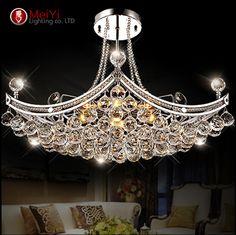2015 nuevo estilo araña accesorio de iluminación cristalina luz Lustres de cristal para sala de estar lámpara de techo envío gratis