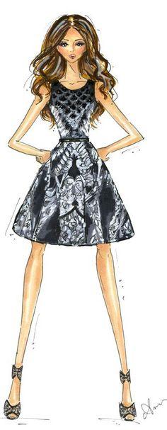 Fashion Illustration Print by Anum Tariq