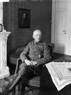 Rüdiger von der Goltz, commander of the German forces in Finland & the Baltics, in Helsinki c. 1918 After the Armistice of 11 November Goltz commanded the army of the Baltic German-established. Germany Ww2, Helsinki, First World, Finland, World War, Wwii, Army, Leather Jacket, Count