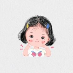 #Nhuyến Kawaii Drawings, Disney Drawings, Cartoon Drawings, Cute Drawings, Girl Cartoon Characters, Cartoon Faces, Anime Manga, Anime Art, Little Girl Illustrations