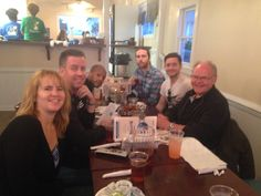Family dinner at the Pelicatessan