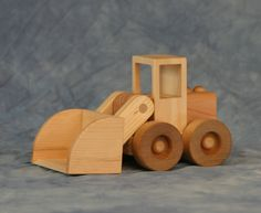 Wooden Toy Payloader by JoliLimited on Etsy