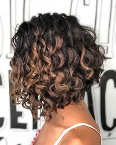 Curly-Angled-Bobs Popular Short Curly Hairstyles 2018 – 2019