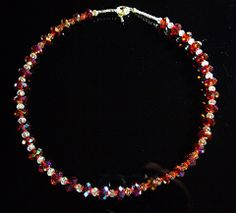 #246 Crystal fire necklace - Our Creative Side