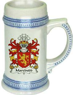 Maredudd Coat of Arms / Family Crest stein mug