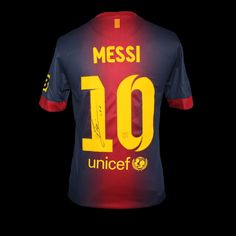 Signed by the man himself. - Messi Shirt