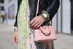 Dress: DVF. Jacket: Zara (old). Shoes: Zara (old). Purse: Prada (not online, but similar size here). Jewelry: Michele Watch, David Yurman, Coach, Catbird. Nails: Butter London Teddy Girl.