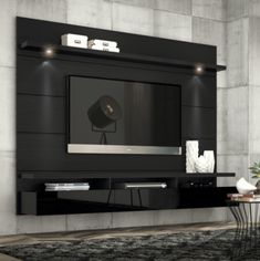 Manhattan Comfort Cabrini Theater Panel Collection TV Stand with Drawers Floating Wall Theater Entertainment Center, L x D x H, Black Wall Mount Entertainment Center, Entertainment Room, Rack Grande, Home Para Tv, Farmhouse Tv Stand, Tv Stand Designs, Tv Panel, Cool Tv Stands, Floating Wall