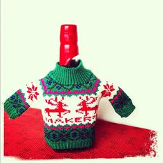 Maker's Mark ugly Christmas sweater