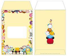 Tsum Tsum Party, Tsumtsum, Third Birthday, Party Themes, Envelope, Alice, Disney, Frame, Design