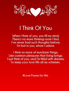 Love poems for him from the heart long