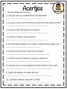 Spanish Classroom Activities, Spanish Teaching Resources, Kids Math Worksheets, Spanish Words, Spanish Language, Espanol To English, 1st Grade Math Games, Spanish Lessons For Kids, Spanish Vocabulary