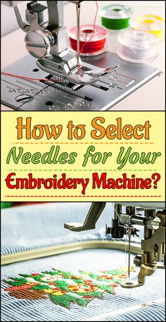 Machine Embroidery Projects Selecting the right kind of needle for your sewing projects can help keep your sewing machine safe and sound. It always pays to choose a needle that serves its purpose and is of high quality. Machine Embroidery Quilts, Brother Embroidery Machine, Machine Embroidery Projects, Applique Embroidery Designs, Learn Embroidery, Embroidery Needles, Embroidery Ideas, Quilting, Embroidery Techniques