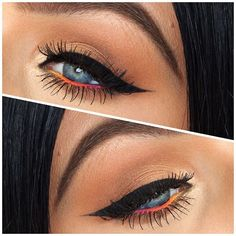"""1,777 Likes, 46 Comments - Emma Cervin (@emmacervin) on Instagram: """"Thick eyeliner and ombré liner on the waterline (try to ignore the brows, I had to fill them in…"""""""
