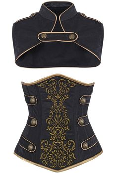 The Violet Vixen - Royal Guard Black Corset, $141.00 (http://thevioletvixen.com/corsets/royal-guard-black-corset/)