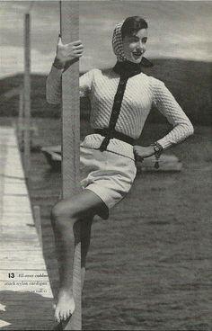 1953 fabulousness. Love her cardigan!