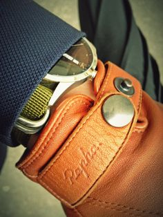 Canali navy coat, CK watch with NATO strap mod, Rapha leather town gloves
