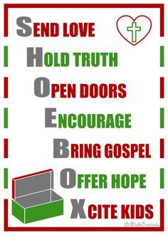 inspirational shoebox poster - Operation Christmas Child Ideas