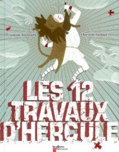 Les douze travaux d'Hercule   60페이지, 24.6×30.7×1.1 cm 헤라클레스의 12 가지 노역을 아이들이 재미있게 읽을 수 있도록 많은 일러스트레이션과 대화를 통해 가르쳐 준다.