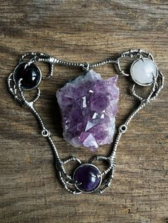 Amethyst Claw Necklace by KRUELINTENTIONS on Etsy