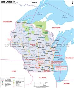 Wisconsin (WI) Map