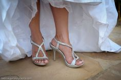 Beautiful silver wedding shoes! Picture taken by Tad Craig Photography