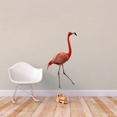 Real Life Flamingo - Printed Wall Decal Wall Stickers