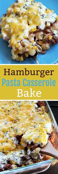 Hamburger Pasta Casserole Bake, Recipe Treasures Blog