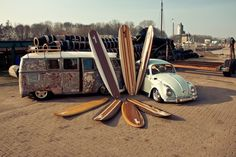 Photo shoot; boards and v-dubs.