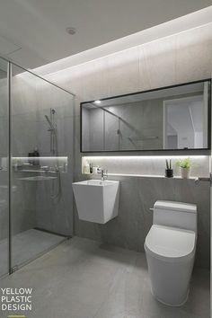 Bathroom small mirror interior design Ideas for 2019 Bathroom Design Small, Bathroom Interior Design, Modern Bathroom, Bathroom Tub Shower, Toilet Design, Semi Detached, Guest Bath, Bathroom Inspiration, Korea