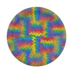 Electrified Rainbow Paper Plates