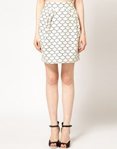 Enlarge The Rodnik Band Fish Scale Print Skirt