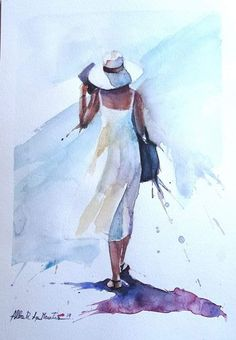 knitting for babies Learn Watercolor Painting, Watercolor Paintings Nature, Watercolor Paintings For Beginners, Watercolor Fashion, Abstract Watercolor, Figure Painting, Silhouette Painting, Silhouette Png, Drawing People