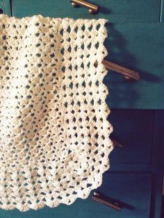 Manta de bebé. Lana. Crochet. Handmade