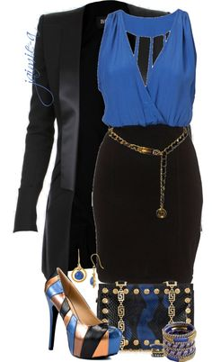 """""""Black & Blue 2"""" by jaimie-a on Polyvore"""