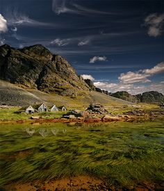 Old Icelandic Farm in Fantastic Landscape Photography
