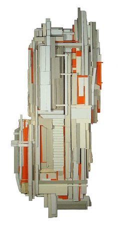 Ryan Sarah Murphy - abstract sculptural collages using found cardboard and book covers