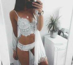 Beautiful white lingerie.