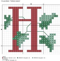 alfabeto natalizio H